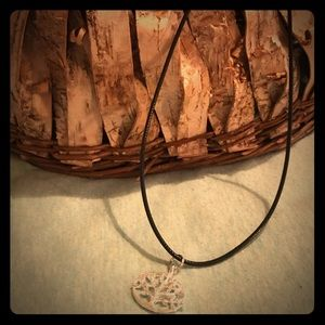 Handcrafted tree charmed necklace